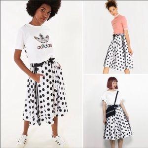Adidas polka dots skirt •